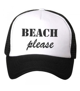 beach art printed cap